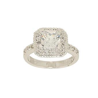 Classic Engagement Princess Cut Cubic Zirconia