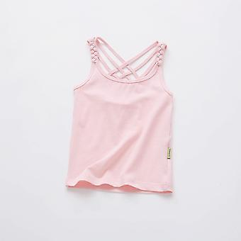 Summer Candy Color Tops, Teenage Cotton T-shirts, Camisole Undershirt