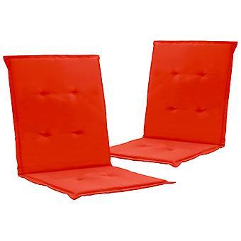 vidaXL puutarhatuoli painos 2 kpl. punainen 100 x 50 x 3 cm