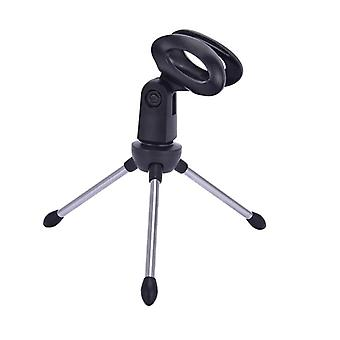 Mic Stand Bracket Desktop Adjustable Microphones Tripods Holder Mini Portable