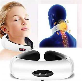 Electric Pulse Neck And Back Massager Far-infrared Heating Analgesic Too