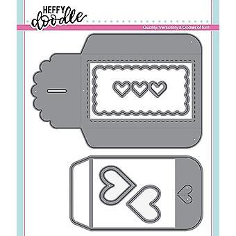Muere el bolsillo de la tarjeta de regalo del corazón doodle heffy
