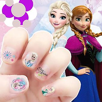 Cartoon characters frozen, stitch, minnie, princess inspired makeup nail art stickers for kids