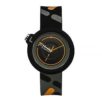 FILA 38-6081-007 Gemengde Horloges - Zwarte Siliconen Armband