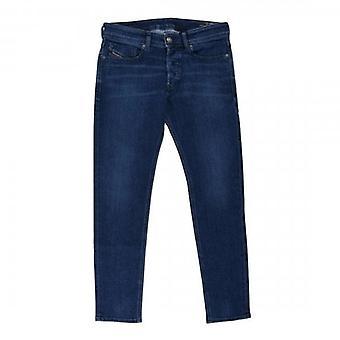 Diesel Sleenker Stretch Denim Mid Blue Washed Jeans 009QI