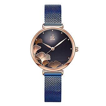 Shengke Elegant 32 Mm Dial Mesh Band Japanese Quartz Luxury Watches