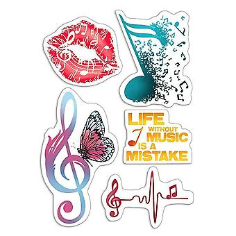 """Ciao Bella 4""""x6"""" Stamps - Music Life"""