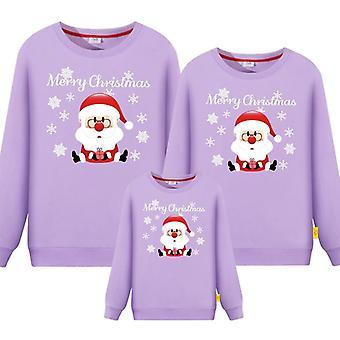 Perhe matching joulu collegepaita, isä-äiti vauva pyjama