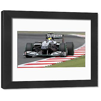 British GP 2010 Nico Rosberg Mercedes. Framed Photo. British GP 2010 Nico Rosberg Mercedes.