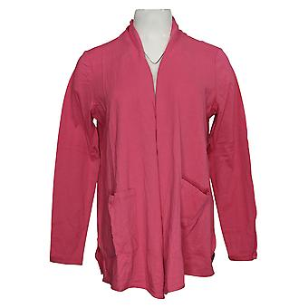 LOGOTIPO por Lori Goldstein Women's Sweater Open-Front Cardigan Pink A345358