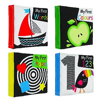 Shape Colors Words Numbers Early Education Cloth Book With Sound Paper Non-toxic Interactive Fabric Book