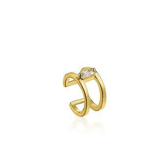 Ania Haie Sterling Prata Brilhante Ouro Brilhante Brilhante Punho de Ouvido E018-06G