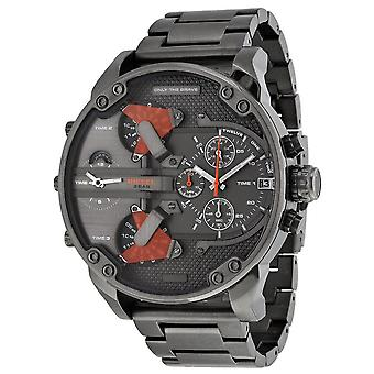 Diesel The Daddies Chronograph Four Time Zone Dial Men's Watch
