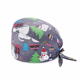Módne priedušné Scrub Cap vytlačené tlačidlo pracovný klobúk