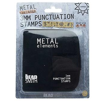 Final Sale - The Beadsmith Punctuation Punch Stamp Set, With Canvas Case 3mm, 9 Pieces