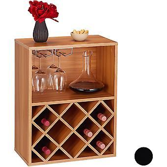 HanFei 10028074_93 Weinregal, Aufbewahrung für 8 Flaschen, mit Weinglashalter, großer Weinständer,