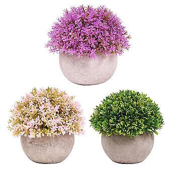 人工植物鉢赤ちゃん涙千層草盆栽3植木鉢とプラスチック偽の緑の植物