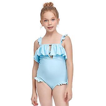 Swimsuit exclusive for cross-border new one-piece girl's  children ruffle swimwear
