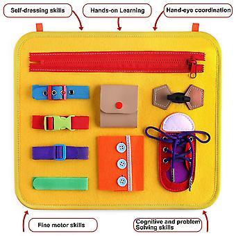 التعلم المجلس التعليمية لعب الأطفال والرضع خلع الملابس الافراج عن مشبك المحمولة شعرت لوحة التعلم