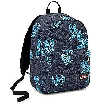 Ischoolpack Seven Colorflower, 27 Lt, Black, Laptop Pocket 15'', met Power Bank! School & Vrije tijd, 44 cm