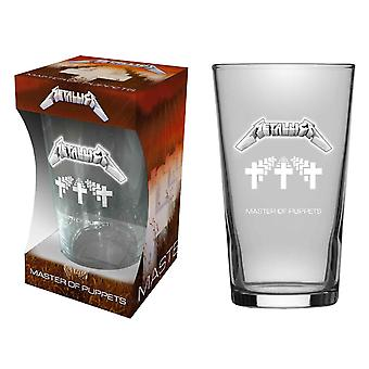 Metallica Beer Glass Master Of Puppets  Album Band Logo new Official Boxed