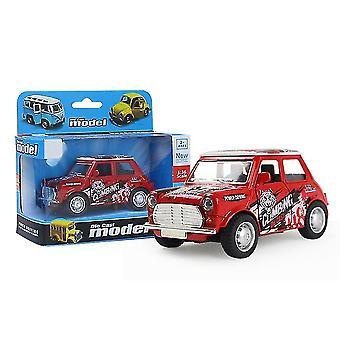 سيارة صغيرة حمراء سحب السيارة انزلاق سبيكة، نموذج سيارة محاكاة مع يمكن فتح الباب az9087