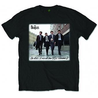 The Beatles On Air Zwart Heren TShirt: XXL