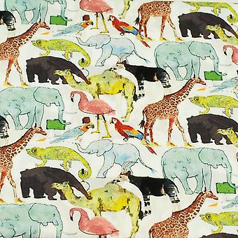 タイプラネットリバティグリーン動物園鳥&動物デザイナーポケットスクエアハンカチ