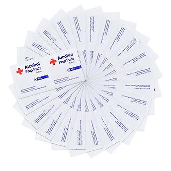 1 Box Of Disposable Alcohol Prep Pad Disinfecting Wet Wipe Sterilization Pads White