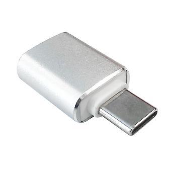 Adaptador USB-A para USB-C, 3 cm - Prata