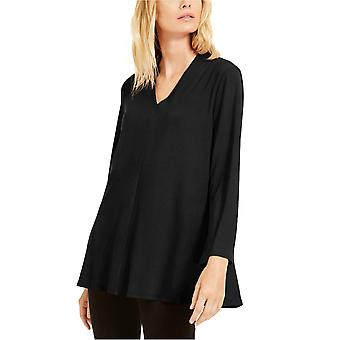 Eileen Fisher Womens V-Neck Flared Top