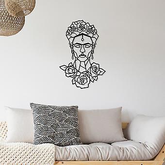Frida Noir Décoratif Métal Mural Accessoire