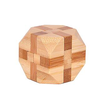 Bamboo Kong Ming Lock Toys Classic Iq 3d Wooden Interlocking Burr Puzzles Brain Teaser Game Toy For Adults Children