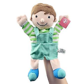 Greppa maskin karaktär hand dockor barns födelsedagspresenter plysch leksaker populära kreativa