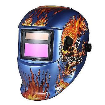 Industrial Welding Helmet Solar Power Auto Darkening Welding Helmet TIG MIG Mask Skull Grinding