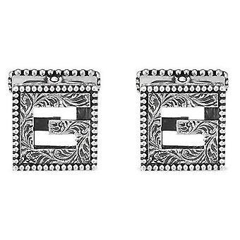Gucci jewels g cube cufflinks ybe55276500100u