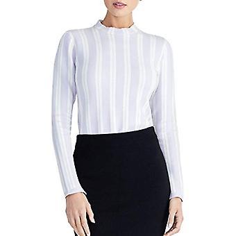 RACHEL ROY Rayado de mujer de costura dividida túnica mock neck suéter superior