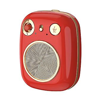 REMAX RB-M58 Retro HiFi Portable Bluetooth Speaker 360° Stereo Wireless Bluetooth 5.0 Subwoofer Red