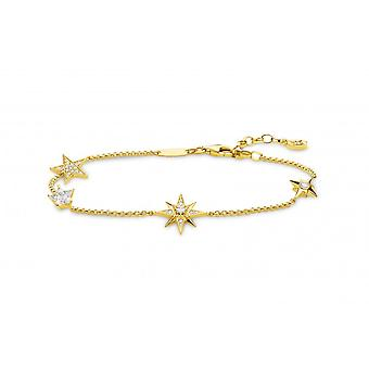 Thomas Sabo sterling sølv Thomas Sabo hvid guld magiske stjerner flere stjerne armbånd A1916-414 -14-L19v