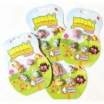 Moshi Monsters Erasers (One Pack, Styles Vary)