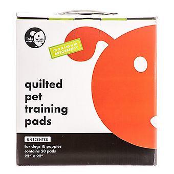 Tampons d'entraînement matelassés pour animaux de compagnie Lola Bean - 22» de long x 22» de large (50 paquet)