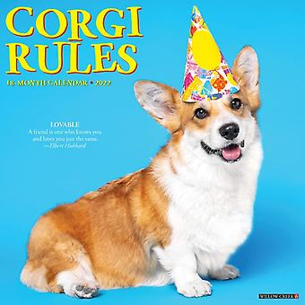 Corgi Rules 2022 Wall Calendar Dogs av Willow Creek Press