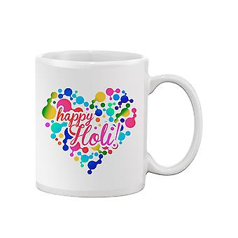 Happy Holi! Heart Mug -SPIdeals Designs