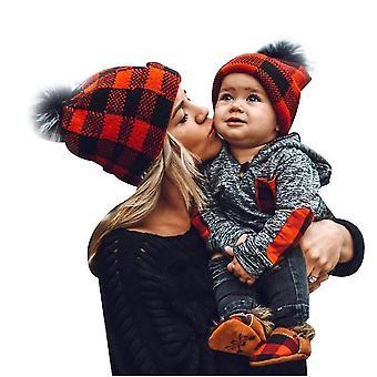 Parent-child Winter Hats Warmer Soft Mom Baby Knit Hat Set(Baby)