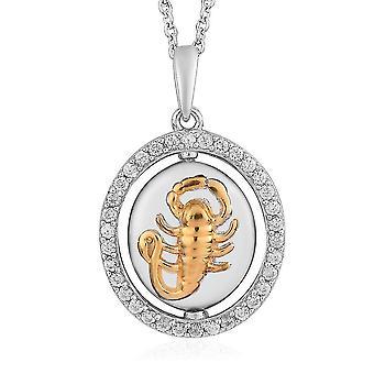 """Zirkon Sternzeichen-Skorpion Halskette für Frauen in Gold und Platin vergoldet Silber 20"""""""