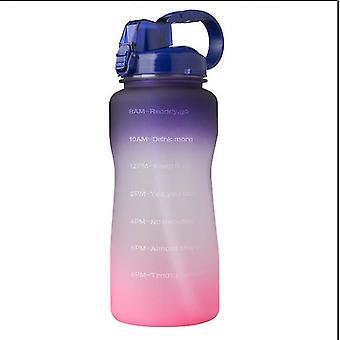 Outdoor Wasserflasche Große Kapazität Sport Wasserflaschen Lifting Belt Bounce Cover mit Stroh (Lila