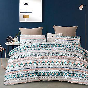 Mimigo Comforter Set Twin 3 Piece Bed Sets Ultra Soft Microfiber Literie Pour Chambre Twin / queen / king size Matelassée Avec Oreiller Shams, Léger Be