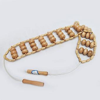 Houttherapie Massager Massage Roller Handgemaakte Massage Roller Rope Houten Massager Tool voor Lichaam Spierpijn Verlichting