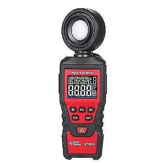 Smart Sensor St6813 Handheld Illuminometer Lcd Color Screen Digital Illuminance Light Lux Meter