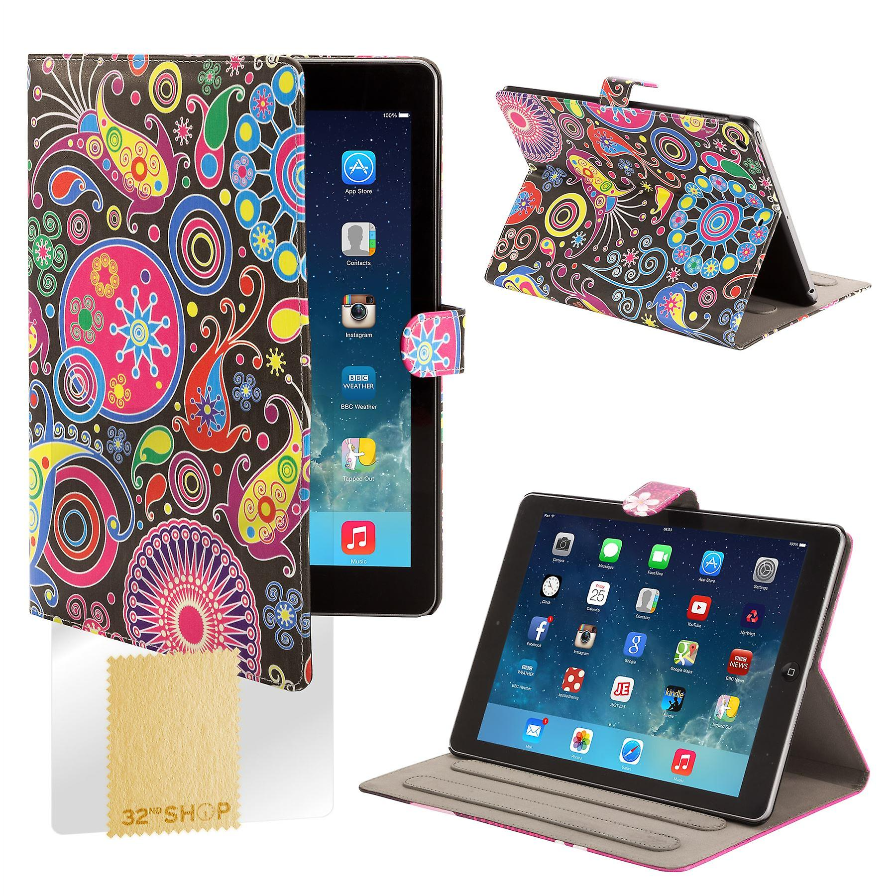 Design Book Angle Stand Folio Case for Apple iPad Mini 4 (4th Gen) - Jellyfish